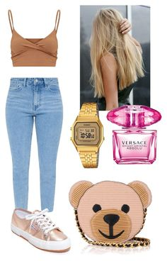 """""""Teddy."""" by frenkiefashion on Polyvore featuring Superga, Moschino, Casio and Versace"""