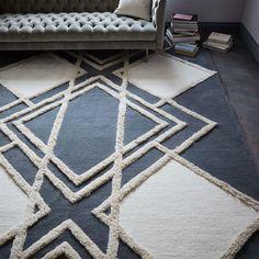 Deco Diamond Wool Rug | west elm