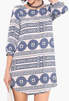 Isola Shift Dress in Blue