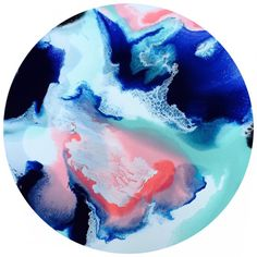 90cm round acrylic and resin