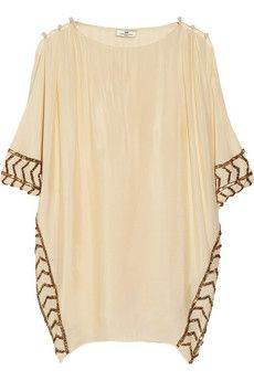 DAY Birger et Mikkelsen Day Athena embellished crepe de chine tunic | NET-A-PORTER