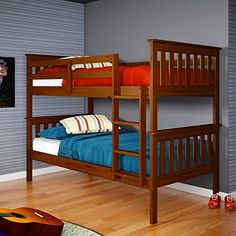 Donco Kids Twin Over Twin Mission Bunk Bed