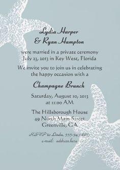 Simple Wedding Reception Invitation Wording