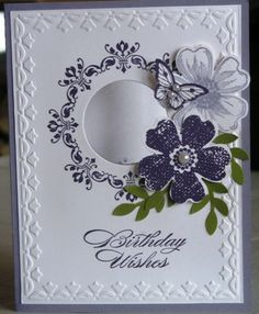 Birthday Card - All essential products for this project can be found on Crafting.co.uk - for all your crafting needs. - Acetate window