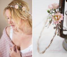 Haarschmuck Haarkranz Brautkranz Flowers *Leonie* von Julmond auf DaWanda.com