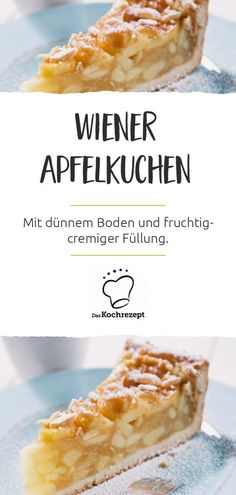 Mmmhhh, so einen guten Kuchen hast du bestimmt schon lange nicht mehr gegessen: … Mmmhhh, you have not eaten such a good cake for a long time: The Wiener Apfelkuchen consists of a thin bottom and a lot of fruity-creamy filling! Tart Recipes, Easy Cake Recipes, Cupcake Recipes, Asian Recipes, Cookie Recipes, Ethnic Recipes, Chocolate Cake From Scratch, Spaghetti Recipes, Copycat Recipes