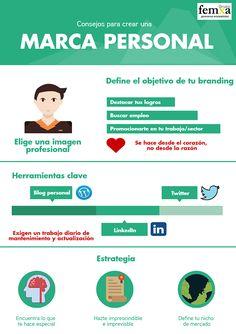 Hola: Una infografia sobre Consejos para crear una Marca Personal. Vía Un saludo