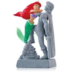 Disney The Little Mermaid - Christmas Ornaments - Hallmark 2014 Makes sound!