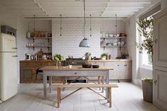 cocina vintage rustico mesadas - Buscar con Google