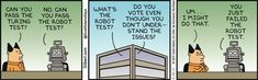 Failing The Robot Test - Dilbert Comic Strip on 2017-05-13   Dilbert by Scott Adams