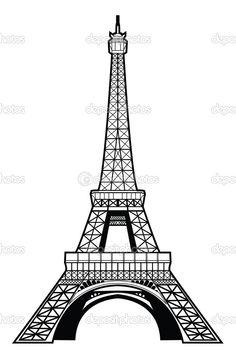 Eyfel Kulesi çizimi - Stok İllüstrasyon: 35288775