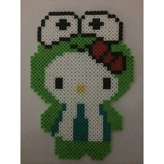 Keroppi Hello Kitty perler beads by kg.crafts