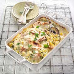 Tuna Pasta Bake With Peas And Corn