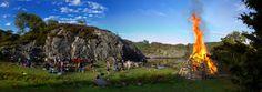 Midsummer's Eve or Sankthansaften is celebrated on June 23rd in Norway