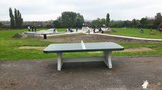 Pingpongtafel Afgerond Groen bij Riversmeet Leisure Centre in Gillingham