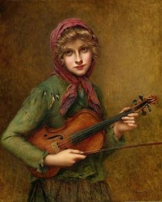 The Young Violin Player. Francois Martin-Kavel (French, Oil on canvas. Martin-Kavel produced genre scenes, elegant pseudo-portraits of idealized women, and still-life and floral paintings. Violin Painting, Violin Art, Violin Music, Cello, William Adolphe Bouguereau, Musica Celestial, Francois Martin, Bo Bartlett, Music Pictures