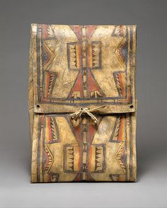 Parfleche // Cheyenne // 1875 http://metmuseum.org/Collections/search-the-collections/50012337?rpp=20&pg=3&ft=native+american&when=A.D.+1800-1900&where=United+States&pos=47