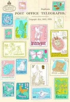 cool cancelled postage stamps to add to my outgoing packages