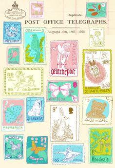 Painted postage