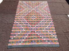 "Stripe Rug,Area Stripe Pattern Rug,6,3""x9,5"" Feet 190x288 Cm Flat Weave Woven Traditional Kilim Rug,Vintage Home Floor Decor Kilim Rug."