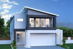 Buderim 290 - Metro, Home Designs in Newcastle Garage Design, Exterior Design, Garage Guest House, Garage Apartments, Garage Loft Apartment, Facade House, Custom Home Builders, Newcastle, Modern House Design
