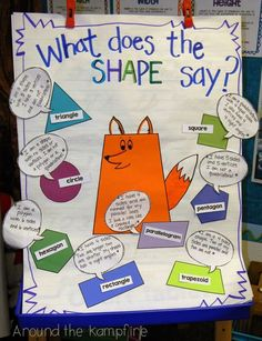 What Does The Shape Say?  and Quadrilateral Quotations 2D & 3D shape activities | Around the Kampfire