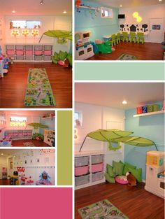113 toy storage ideas 2019 diy plans in a small space-page 15 Daycare Rooms, Home Daycare, Girl Room, Baby Room, Kindergarten Interior, Home Childcare, Daycare Design, Activity Room, Toy Rooms