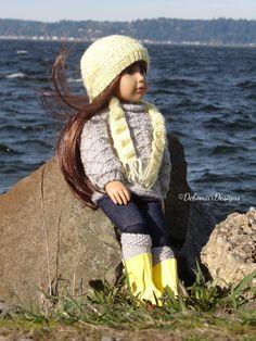 HandKnitted Gansey Sweater Set for Kidz n Cats dolls Aletta by Debonair Designs #DebonairDesigns2014 #ClothingAccessories
