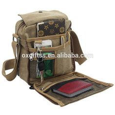 OXGIFT China supplier wholesale Manufacture Factory Price Amazon  Multifunction travel Mens Leisure canvas Chain Shoulder Bags 170f516a4af2b