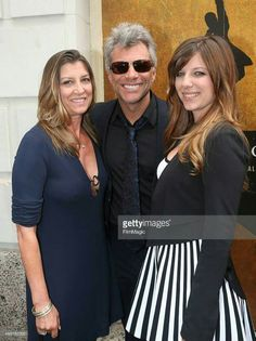 {*Jon Bon Jovi with his wife since he's known since high school & his daughter*}