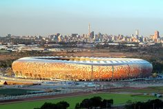 Soccer City Stadium in South Africa.