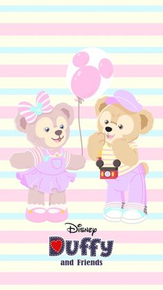 Mickey Mouse Wallpaper, Disney Phone Wallpaper, Friends Wallpaper, Bear Wallpaper, Kawaii Wallpaper, Pink Wallpaper, Iphone Wallpaper, Duffy The Disney Bear, Disney Cookies