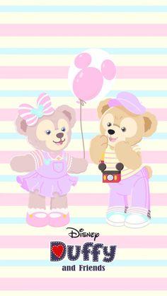 Mickey Mouse Wallpaper, Disney Phone Wallpaper, Friends Wallpaper, Bear Wallpaper, Kawaii Wallpaper, Pink Wallpaper, Duffy The Disney Bear, Disney Cookies, Disney Aesthetic