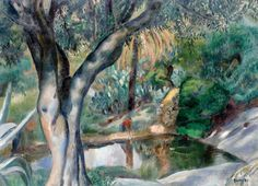 JOAQUÍN SUNYER  (or Joaquim Sunyer 1874-1956,Spanish) - Miralpeix. Sitges
