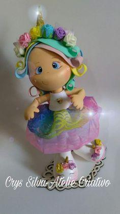 Então...Essa é a Bia!   Uma menina que ama Unicórnio!   Quer aprender a fazer essa fofura?     Sábado,22 de Julho a partir das 14:00  ...