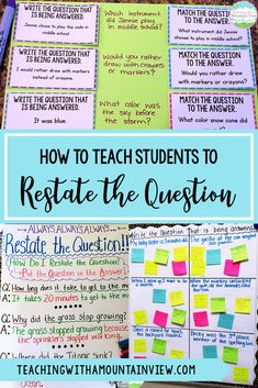 One of the most important lessons that I teach my upper elementary students is how to restate the question in the answer. We start with a lesson about how to restate the question. PQA: Put the Question in the Answer. This can still be tricky for some kids, so we make an anchor chart together that shows them exactly how to do it. Check out my lesson and help your students to answer questions with ease. #languagearts