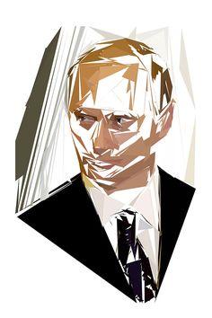 Portrait de Vladimir Poutine par Pierre Tomy Le Boucher  http://www.pierretomyleboucher.fr/politique.html