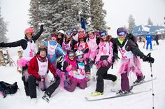Vail Mountain Hosts World's Largest Ski Day to Conquer Cancer Vail Mountain, Pink Costume, Perfect Pink, World's Biggest, How To Raise Money, Worlds Largest, Skiing, Cancer, Events