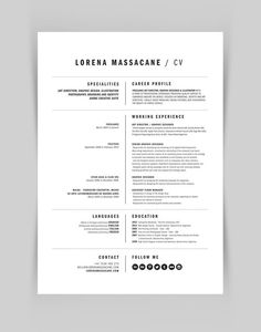 Design -- Personal Branding by Lorena Massacane, via Behance