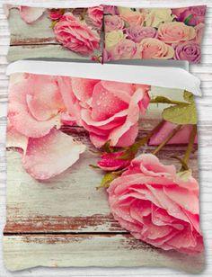 Funda nórdica. Rosas vintage