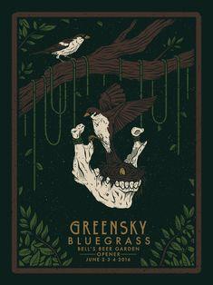 Greensky Bluegrass Fetival Poster by Logan Schmitt