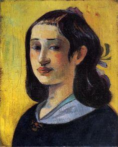 Portrait of Aline Gauguin, Oil On Canvas by Paul Gauguin (1848-1903, France)