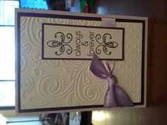 Wedding card (all these embossed cards I'm finding make me want to add a cuddle bug to my xmas list!)