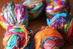 sari strip ribbon yarn... yummy