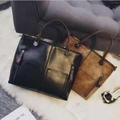 Women shoulder bag vintage European PU leather handbag  fashion casual solid messenger bags Item Type: Handbags Interior: Interior Compartment,Interior Slot Poc