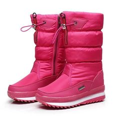 c67ff73726af Women s boots winter shoes non-slip waterproof snow ladies botas mujer