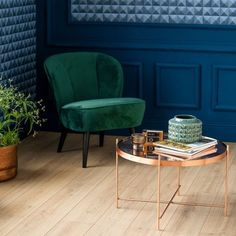 The 9 Colors Trend for 2019 (& How to Adopt them in your Deco) - . Home Decor Trends, Home Decor Styles, Home Staging, Verde Jade, Velvet Armchair, Color Trends, Sweet Home, Art Deco, Design Inspiration