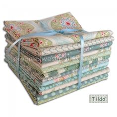 Tilda Spring Lake Fat Quarter Set 12pce - Tilda - Spring Lake - Fabric