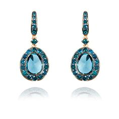Annoushka Blue Diamond and London Blue Topaz Dusty Diamond Earrings