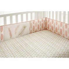 Levtex Baby Coral Little Feather 4 Piece Crib Bumper in Baby,Nursery Furniture,Other Nursery Furniture | eBay
